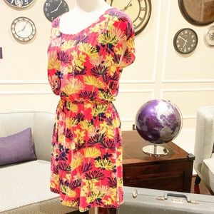 Banana Republic Colorful Short Sleeve Dres…